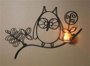 92 best images about wrought iron on pinterest antiques With best brand of paint for kitchen cabinets with owl tealight candle holder
