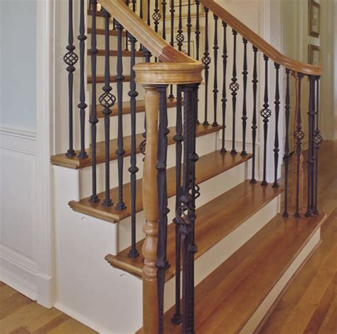 interior railings home depot custom iron stair balusters traditional staircase chicago by custom hardwood stair parts