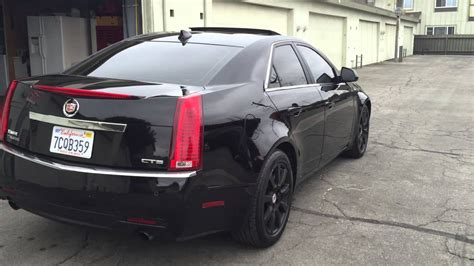 black cadillac cts youtube