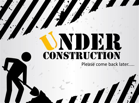 Grey Under Construction Background