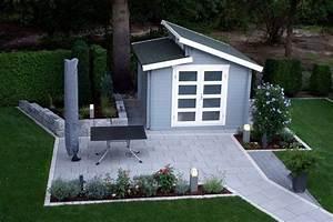 Farbe Für Gartenhaus : gartenhaus grau wei moderner gartentrend mit stil ~ Watch28wear.com Haus und Dekorationen
