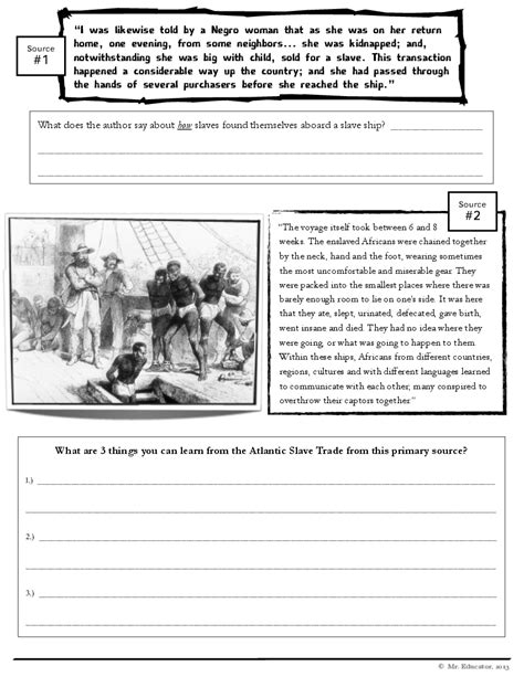 11 best images of 9th grade worksheets primary sources