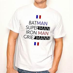 T Shirt Homme Blanc : t shirt homme blanc foot batman superman iron man griezmann ketshooop t shirts ~ Melissatoandfro.com Idées de Décoration