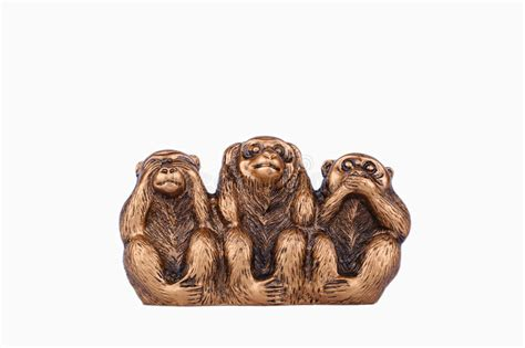 three wise monkeys a white background stock 65496495
