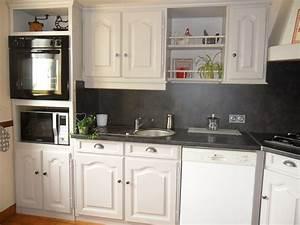 Cuisine Repeinte En Blanc : meuble cuisine rustique ~ Melissatoandfro.com Idées de Décoration