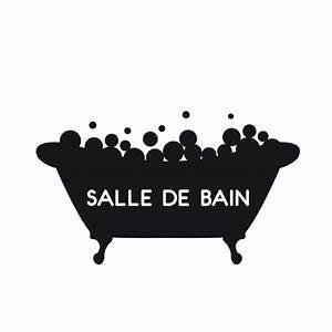 Stickers Porte Salle De Bain : stickers panneau salle de bain clicanddeco ~ Dailycaller-alerts.com Idées de Décoration