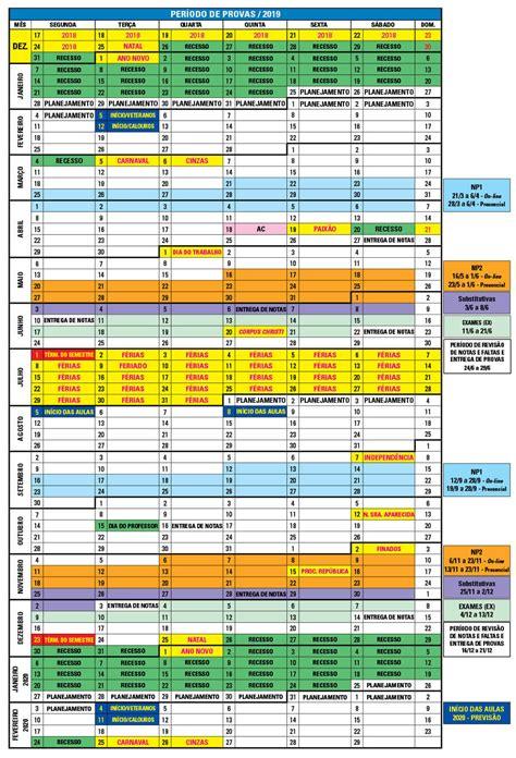 calendarios unip universidade paulista