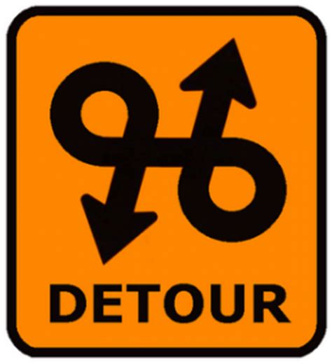 culpwrit detour sign