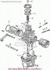 Honda Ca160 Touring 1966 Usa Carburetor  Keihin   Ca160