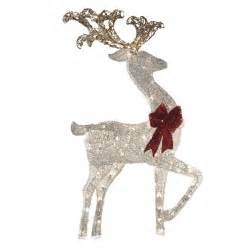 shop holiday living 4 ft lighted deer outdoor christmas decoration with white incandescent