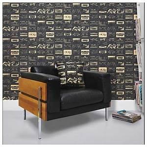 Papier Peint Noir Et Doré : papier peint c 60 noir et dor book 1 mini moderns ~ Melissatoandfro.com Idées de Décoration