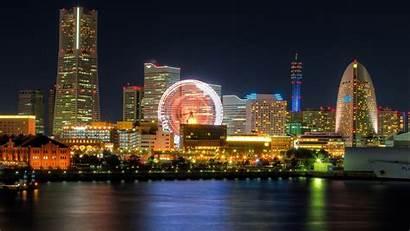 Yokohama Japan Tokyo Night Minato Cityscapes Bay