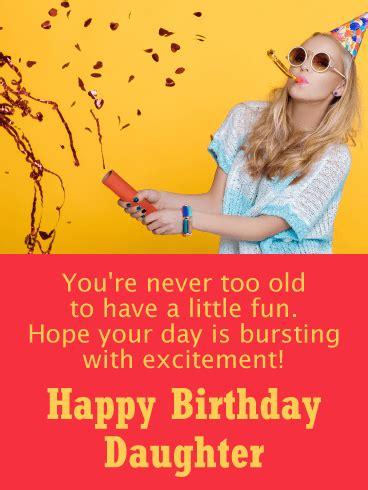 party girl funny birthday card  daughter birthday