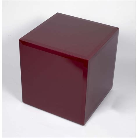 red glass cube glass furniture  homesdirect  uk