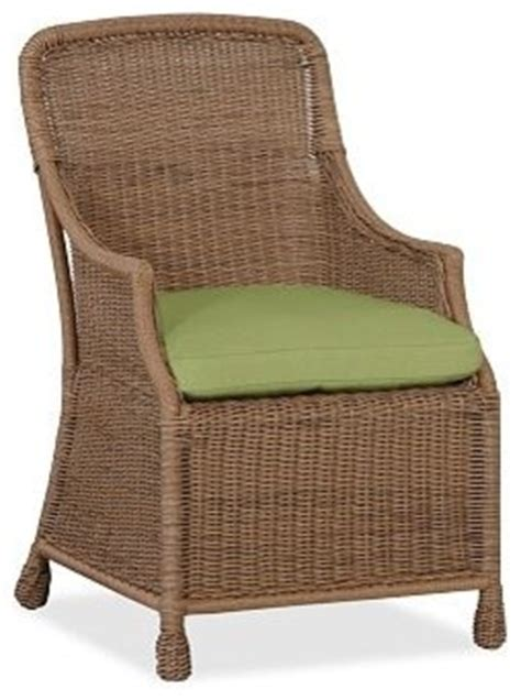 saybrook outdoor canvas dining chair cushion slipcover