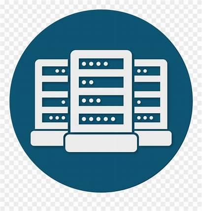 Data Icon Center Clipart Logic Centre Server