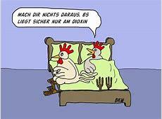 Cartoon Wieder mal Dioxin in Hühnereiern Und in Hühnern