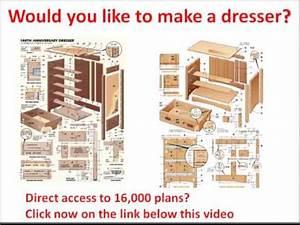 Dresser plans free: Would you like to make a Dresser