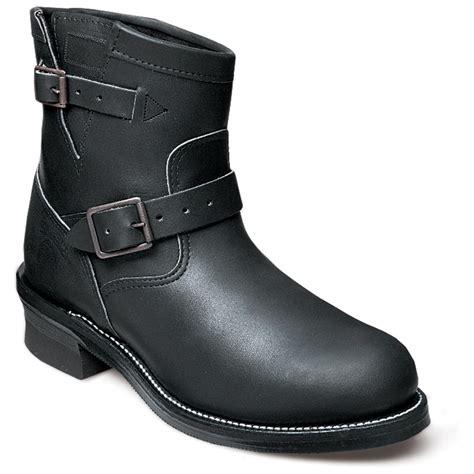 mens biker shoes men 39 s chippewa vibram 7 quot steel toe engineer boots black