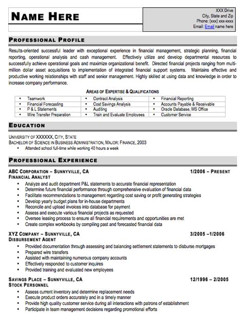entry level resume sle free resume template