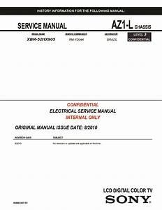 Sony Xbr-52hx905 Service Manual