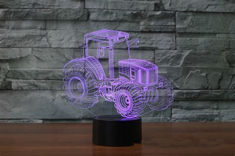 Tractor 3d Led Lamp