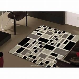 Canevas Pour Tapis : tapis point noue smyrnalaine damier noir et balnc ~ Farleysfitness.com Idées de Décoration