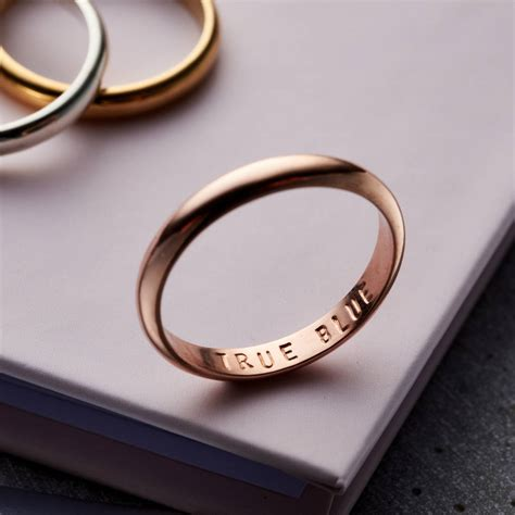 personalised secret script ring by posh totty designs