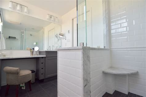 marble corner shower seat modern bathroom