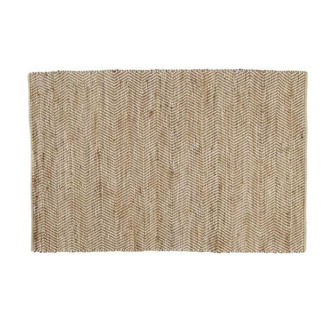 tapis en coton et jute 140 x 200 cm barcelone maisons du monde