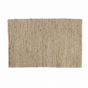 tapis en coton et jute 140 x 200 cm barcelone maisons du With tapis en coton