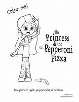 Coloring Pepperoni Princess Head sketch template
