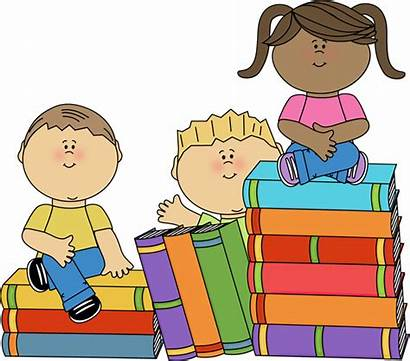 Clipart Awareness Phonological Books Sitting Graphics Elementary