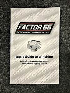 Factor 55 10000 Basic Guide To Winching Manual