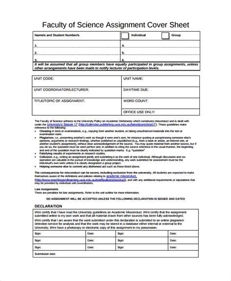 sample assignment sheet template   documents