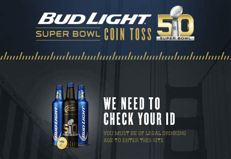 bud light superbowl sweepstakes bud light super bowl coin toss sweepstakes giftout