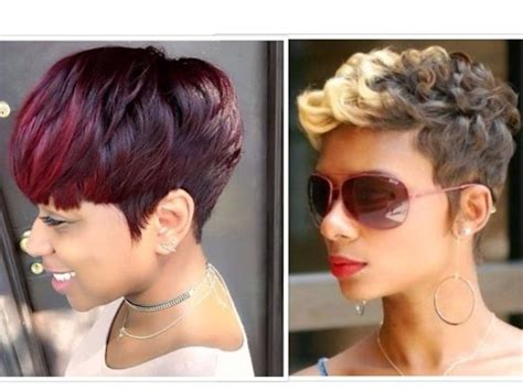 50 trendy short hairstyles for black youtube