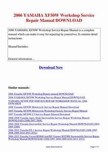 2006 Yamaha Xf50w Workshop Service Repair Manual By Sam