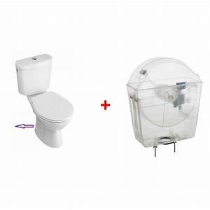 Wc Sortie Horizontale : chasse d 39 eau universelle avec pack wc sortie horizontale ~ Melissatoandfro.com Idées de Décoration