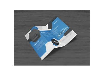 Mockup Brochure Psd Tri Fold