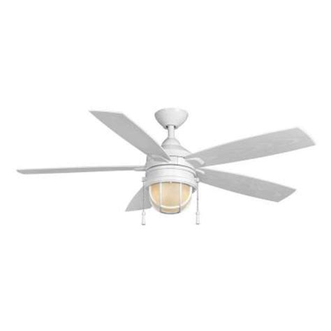 Home Depot Ceiling Fans White by Hton Bay Seaport 52 In Indoor Outdoor White Ceiling