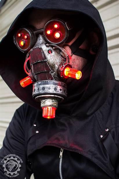 Cyberpunk Deviantart Mask Twohornsunited Dystopian Plague Doctor