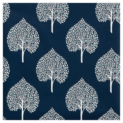 papier peint feuilles d arbre 20 5 quot x33 bleu marine