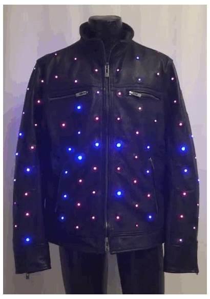 Jacket Leather Rgb Pink Leds Purple Led