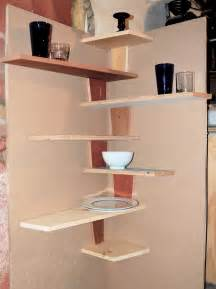 shelves in kitchen ideas spacesaver small kitchen spaces using diy wood floating