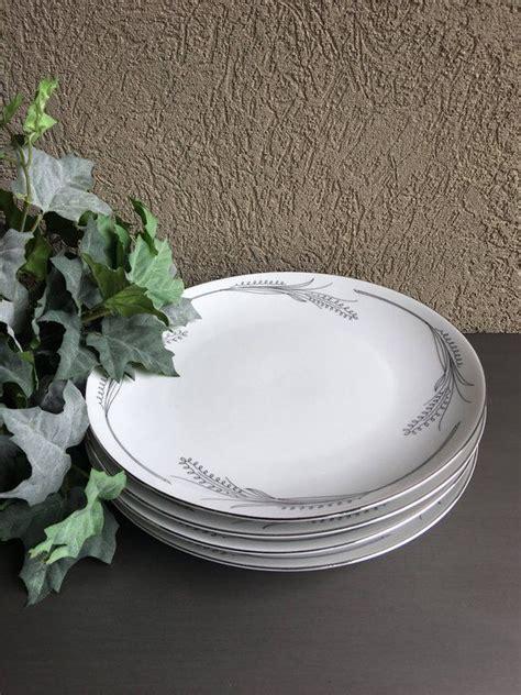 wheaton home arts dinner plates white black china