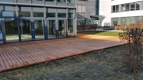 Sanierung Einer Großflächigen Terrasse  Holz Und Beton