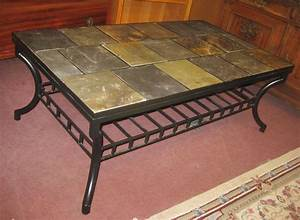 Uhuru furniture collectibles sold tile top coffee for Tile top coffee table