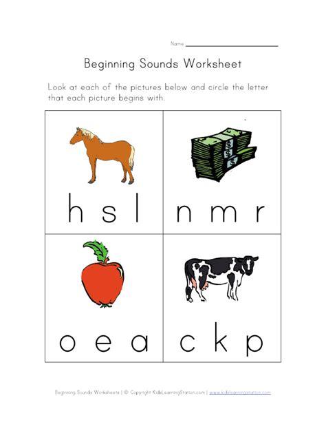 beginning sounds phonics worksheet    kids