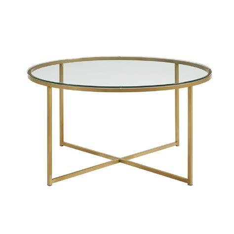 Walker Edison Furniture Company 36 In Glassgold Coffee